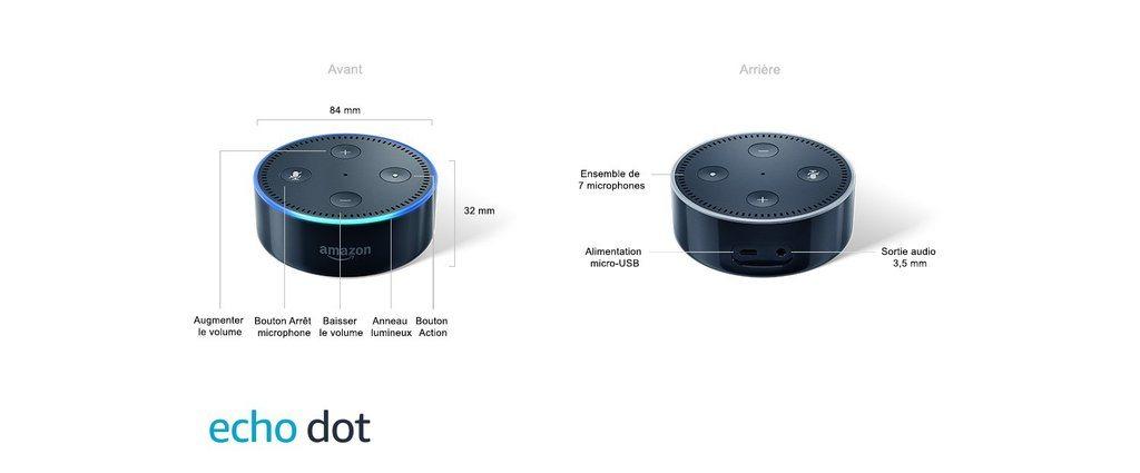 Caractéristiques de l'Amazon Echo Dot