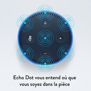 Amazon Echo Dot dessus